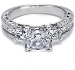 Tacori Crescent Platinum Engagement Ring HT243012