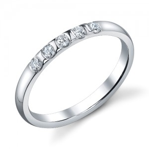 244422 Christian Bauer 14 Karat Diamond  Wedding Ring / Band
