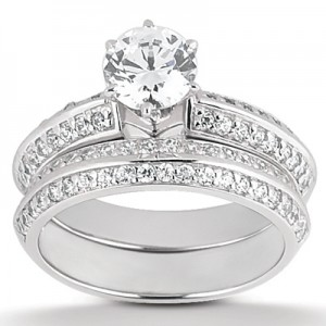 Taryn Collection Platinum Diamond Engagement Ring TQD A-3921