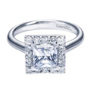 Gabriel 14 Karat Contemporary Engagement Ring ER7490W44JJ