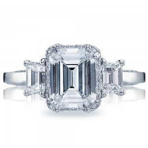 2621ECLG Platinum Tacori Dantela Engagement Ring