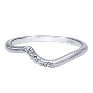 Gabriel 14 Karat Contemporary Wedding Band WB10943W44JJ
