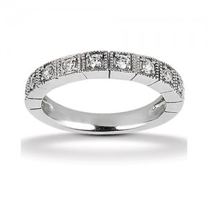 Diamond Antique Band 14 Karat Taryn Collection TQD B-608