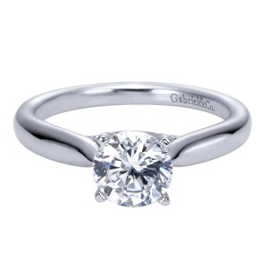 Gabriel 14 Karat Contemporary Engagement Ring ER7894W4JJJ