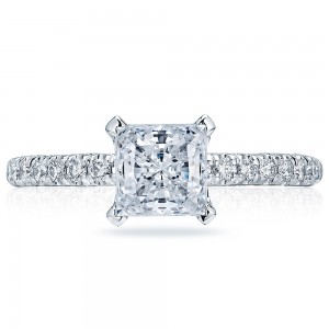 HT2545PR6 Platinum Tacori Classic Crescent Engagement Ring