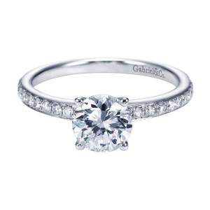 Gabriel 14 Karat Contemporary Engagement Ring ER7537W44JJ