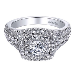Gabriel 14 Karat Contemporary Engagement Ring ER910094W44JJ