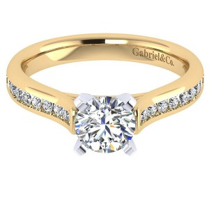 Gabriel 14 Karat Contemporary Engagement Ring ER7443M44JJ