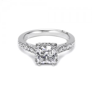 Tacori Platinum Dantela Engagement Ring 2620PRLGP
