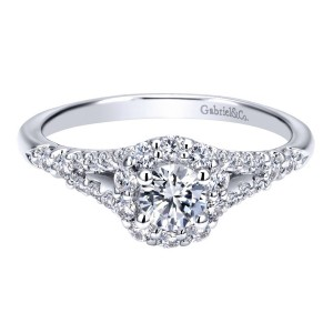 Gabriel 14 Karat Contemporary Engagement Ring ER911773R0W44JJ