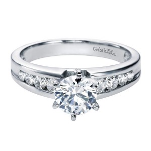 Gabriel 14 Karat Contemporary Engagement Ring ER2157W44JJ