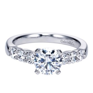 Gabriel 14 Karat Contemporary Engagement Ring ER7849W44JJ