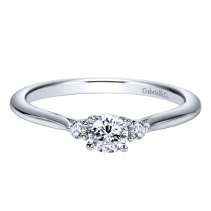 Gabriel 14 Karat Contemporary Engagement Ring ER98548W44JJ