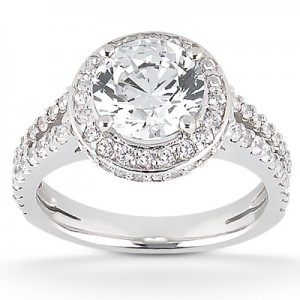 Taryn Collection Platinum Diamond Engagement Ring TQD 7768