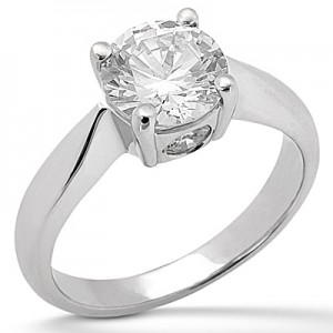 Taryn Collection Platinum Diamond Engagement Ring TQD 482