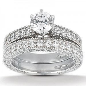 Taryn Collection Platinum Diamond Engagement Ring TQD A-5521