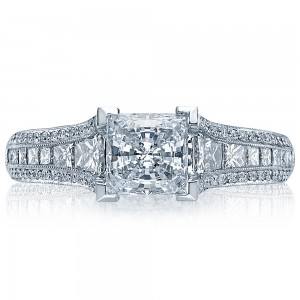 HT2513PR712X Platinum Tacori Classic Crescent Engagement Ring