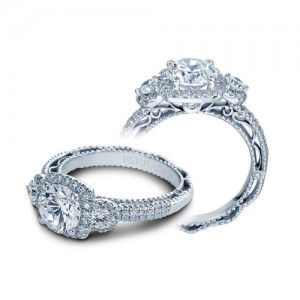 Verragio Venetian-5025CU Platinum Engagement Ring