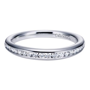 Gabriel 14 Karat Contemporary Wedding Band WB6664W44JJ