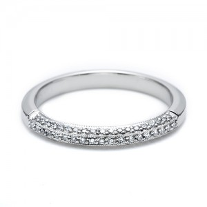 Tacori 18 Karat Simply Tacori Wedding Band 2522