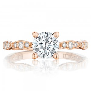 Tacori 46-2RD6PK 18 Karat Pretty In Pink Engagement Ring