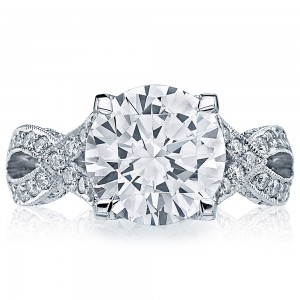 HT2606RD10 Platinum Tacori RoyalT Engagement Ring