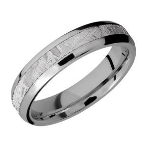 Lashbrook 5B13(NS)/METEORITE Titanium Wedding Ring or Band