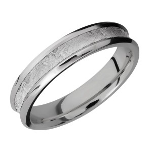 Lashbrook 5CB13/METEORITE Titanium Wedding Ring or Band