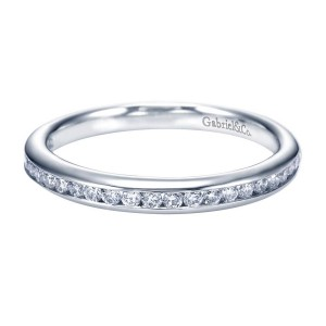 Gabriel 14 Karat Contemporary Wedding Band WB7443W44JJ