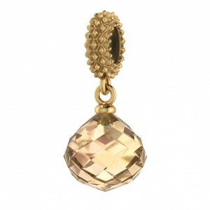 JLo Collection Endless Jewelry Rose Mysterious Drop 18k Gold Plated Charm 3801-4