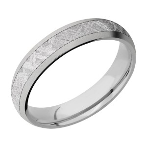 Lashbrook 5D13/METEORITE Titanium Wedding Ring or Band