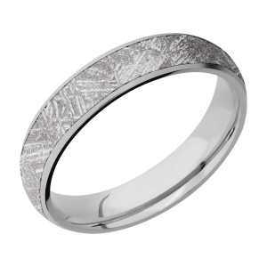 Lashbrook 5D14/METEORITE Titanium Wedding Ring or Band