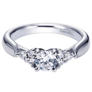 Gabriel 14 Karat Contemporary Engagement Ring ER5993W44JJ