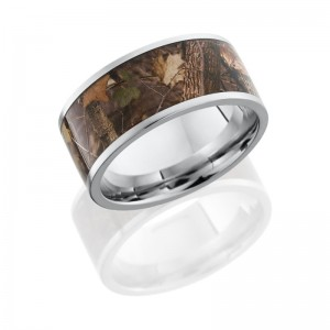 Lashbrook CC10F18/KINGSWOODLAND POLISH Camo Wedding Ring or Band
