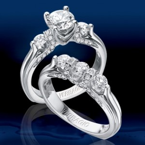 Verragio Platinum Euro Wedding Band EUR-8015W
