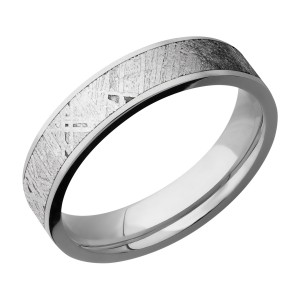 Lashbrook 5F14/METEORITE Titanium Wedding Ring or Band