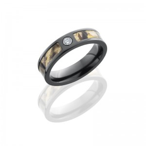 Lashbrook ZCAMO5F13SEG-RTMAX4DIA.05B POLISH Camo Wedding Ring or Band