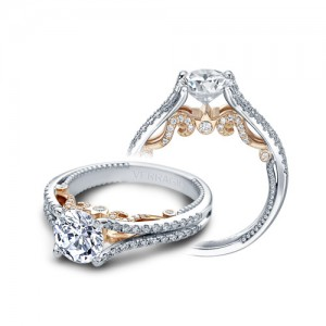 Verragio Insignia-7063-TT Platinum Engagement Ring