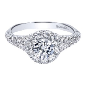 Gabriel 14 Karat Contemporary Engagement Ring ER911954R0W44JJ