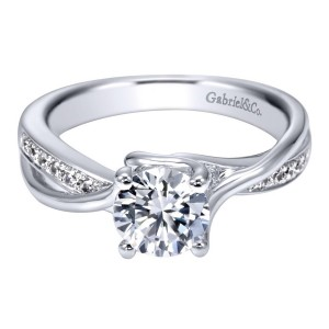 Gabriel 14 Karat Contemporary Engagement Ring ER6360W44JJ