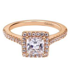 Gabriel 14 Karat Contemporary Engagement Ring ER5825K44JJ