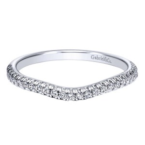 Gabriel 14 Karat Contemporary Wedding Band WB10143W44JJ