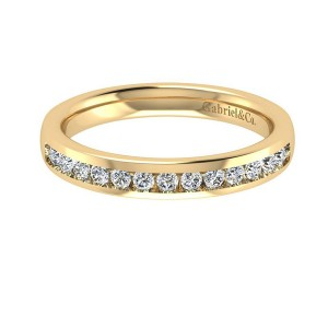 Gabriel 14 Karat Contemporary Wedding Band WB8191Y44JJ
