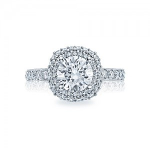 HT2520CU75 Tacori Crescent Platinum Engagement Ring