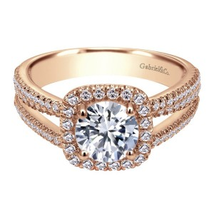 Gabriel 14 Karat Contemporary Engagement Ring ER7786K44JJ