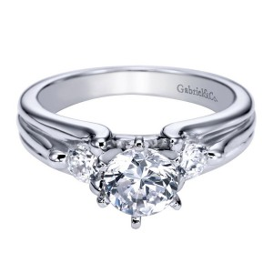 Gabriel 14 Karat Contemporary Engagement Ring ER3751W44JJ