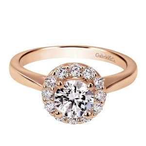 Gabriel 14 Karat Contemporary Engagement Ring ER7494K44JJ