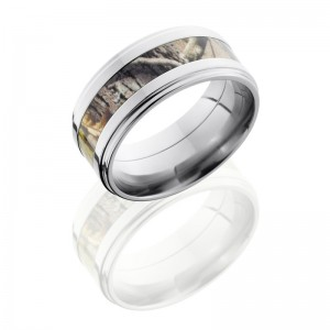 Lashbrook CAMO9FGE14-RTAP POLISH Camo Wedding Ring or Band