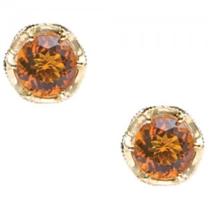 SE105Y09 Tacori Madeira Citrine Crescent Crown Earrings