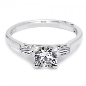 Tacori Platinum Simply Tacori Engagement Ring 2592RD55